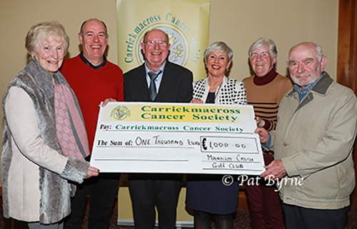 Peter Marron - Captain Mannan Castle Golf Club, Gill Rouiller, Marie Conlon and Pakie Deehan present to Michael Mc Mahon and Pauline Fox.