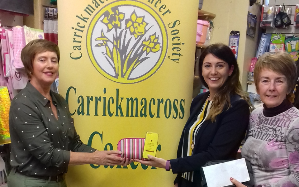 Karen lambe from Forever Living  presented the society with Cancer Comfort Packs